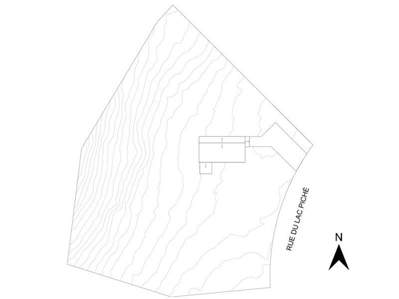 Plan du site du projet La Mésange