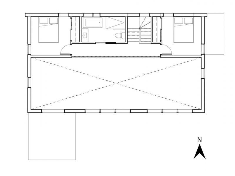 Plan de l'étage du projet La Mésange