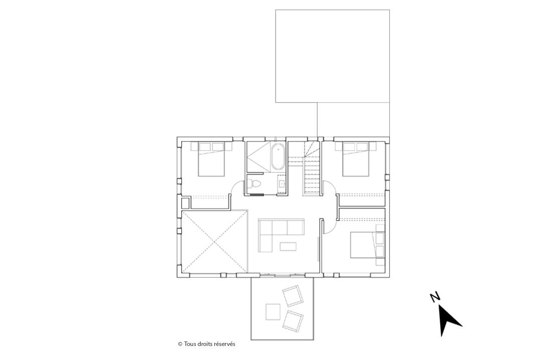 Plan de l'étage du projet Le Colibri